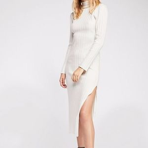 turtleneck luna ribbed dress white sweater fabric